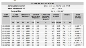 modele regulatoare presiune cu date tehnice